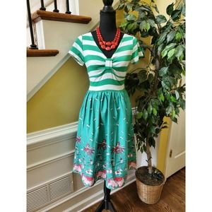 Small Fit and Flare Floral Casual Summer Dress